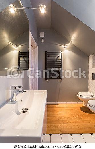 stilvoll, modern, design, toilette