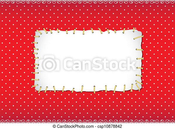 stitched, quadro, ponto polka, remendo - csp10878842