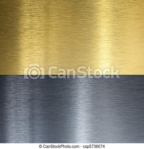 stitched, texturas, bronze, alumínio - csp5736074