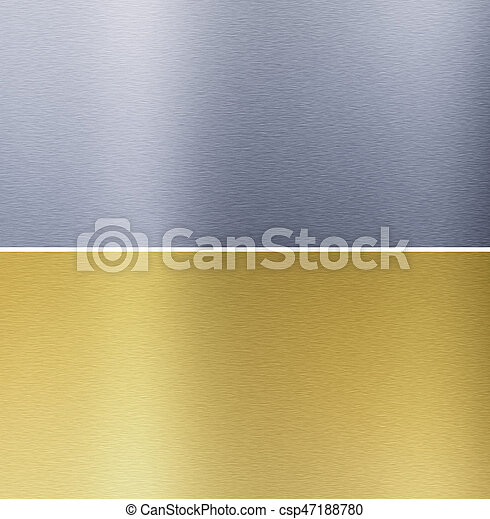 stitched, texturas, bronze, alumínio - csp47188780