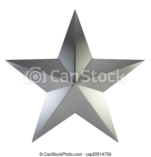 stjärna, silver - csp20514759