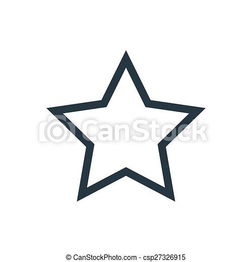 stjärna, skissera - csp27326915