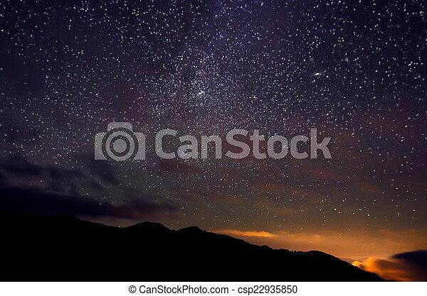 stjärna, sky - csp22935850