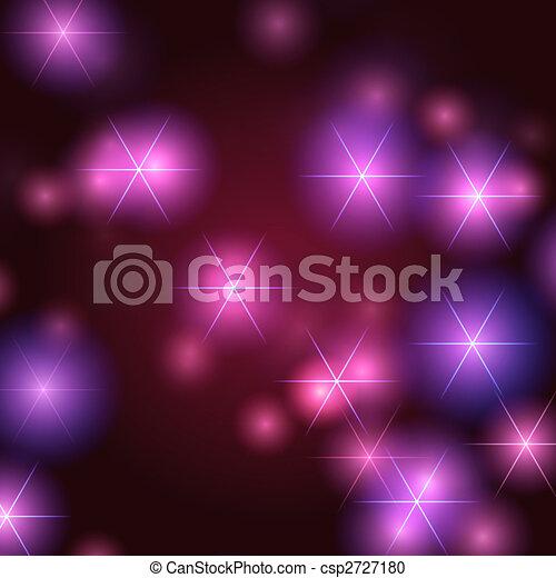 stjärnor, bakgrund, violett - csp2727180
