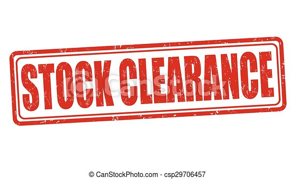 Stock clearance stamp - csp29706457