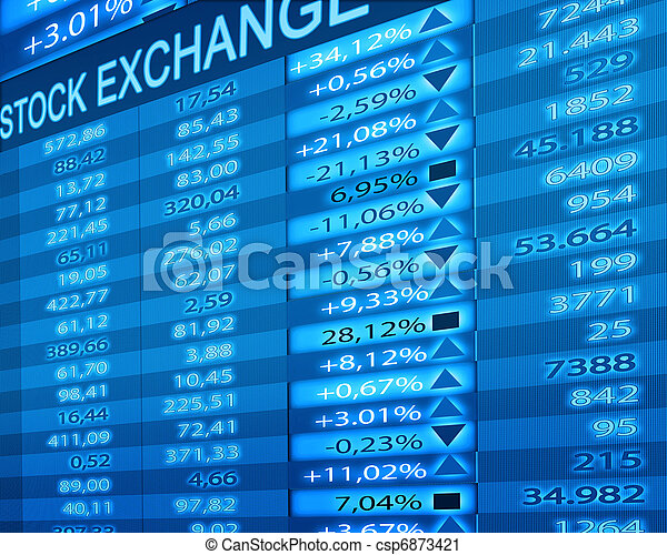 stock exchange - csp6873421