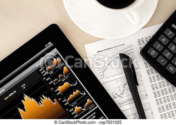 Stock Exchange Workplace - csp7631025