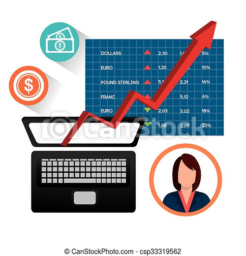 stock market and economy graphic design vector illustration clip rh canstockphoto co uk  stock market graph clipart