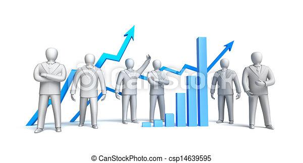 Stock market concept, isolated - csp14639595