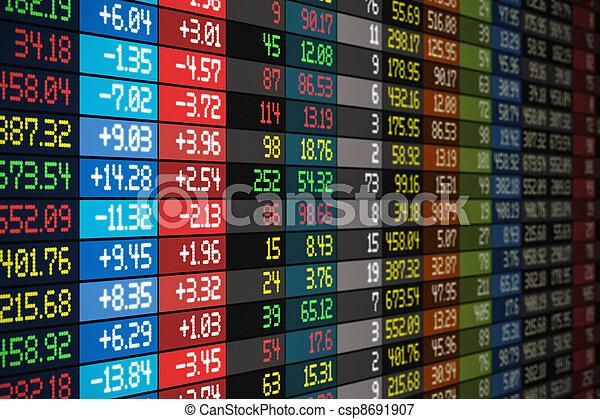 Stock market concept - csp8691907