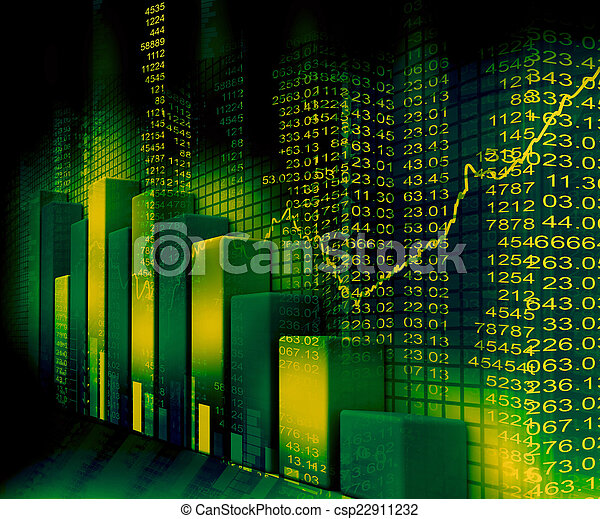 stock market graph and business bar chart