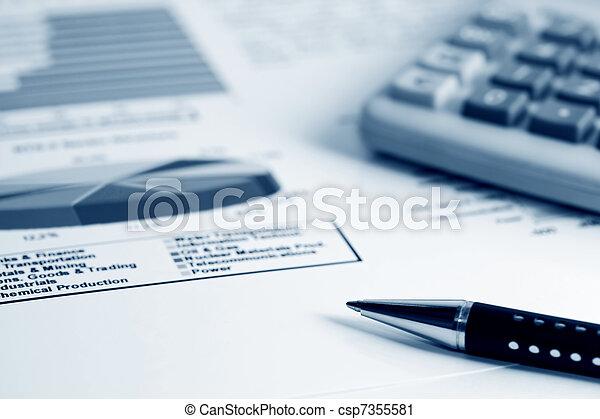 Stock market graphs - csp7355581