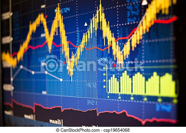 Stock Market Graphs - csp19654068
