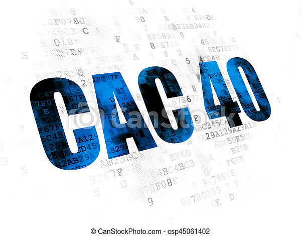 Stock Market Indexes Concept Cac 40 On Digital Background