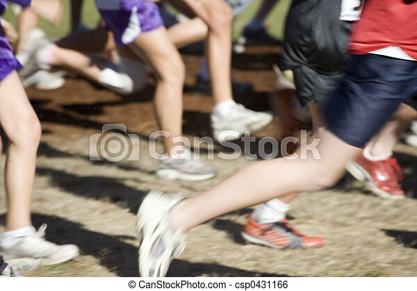 Stock Photo of a Cross Country Team Runners - csp0431166