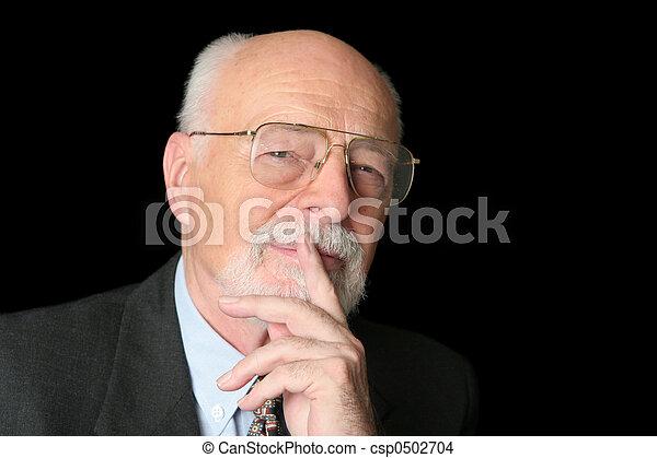 Stock Photo of Intelligent Senior Man - csp0502704