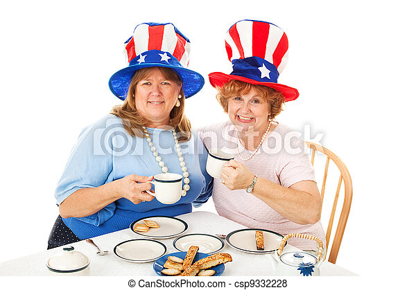 Stock Photo of Tea Party Conservatives - csp9332228