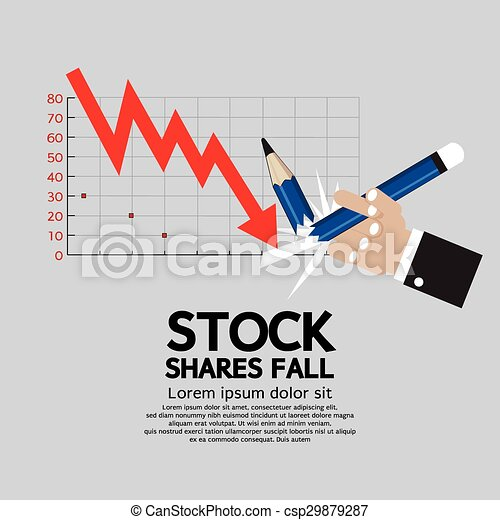 Stock Shares Fall. - csp29879287