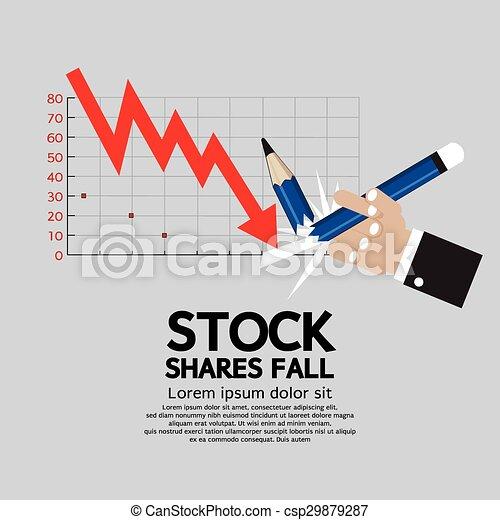 Stock Shares Fall. - csp29879287