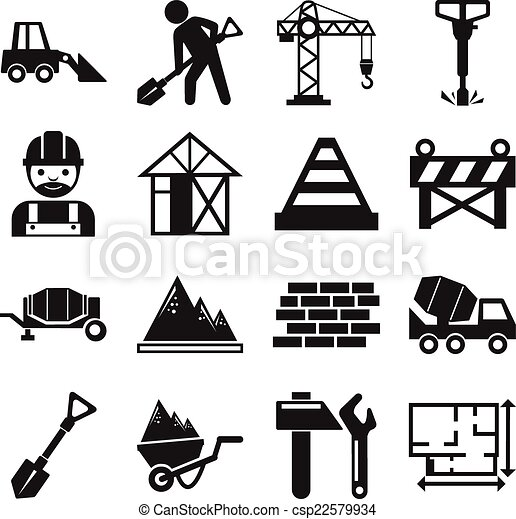 stock vector construction pictogram simple black icon set free real estate clipart images real estate clipart free download