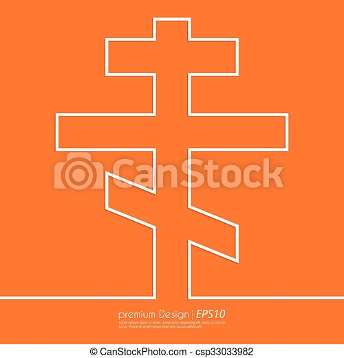 Stock Vector Linear icon cross - csp33033982