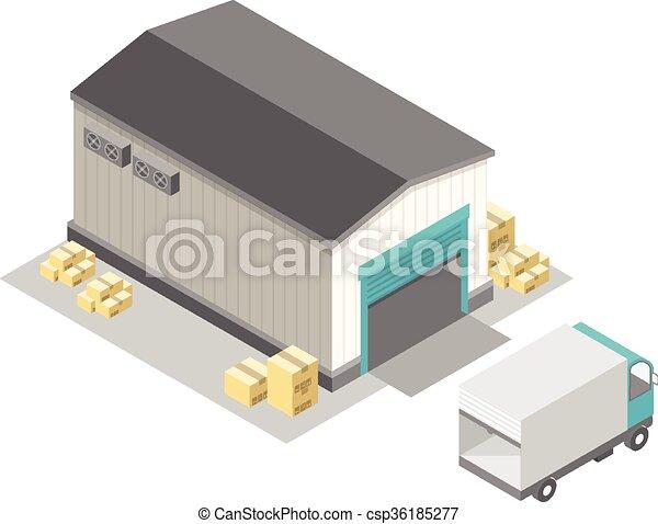 stockage, isométrique - csp36185277