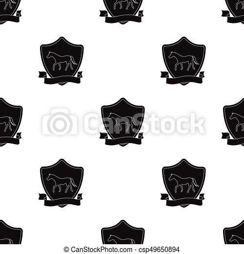 Stockage Style Illustration Icône Symbole Isolé Arrière Plan Vecteur Noir Hippodrome Cheval Blanc Flamme équestre