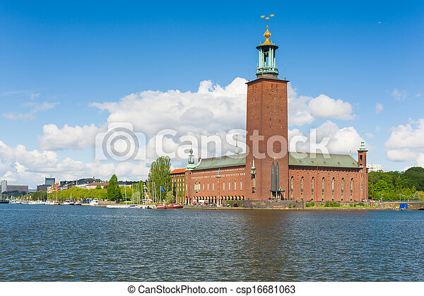 Stockholm City Hall in summer - csp16681063