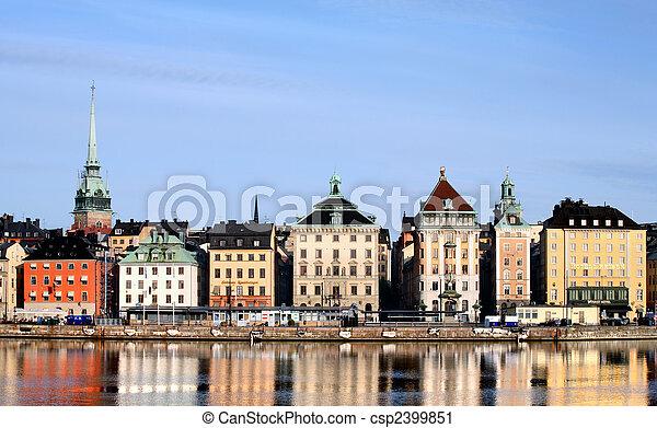 Stockholm City - csp2399851