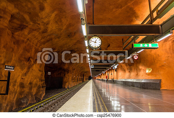 STOCKHOLM, SWEDEN - MAY 30: Interior of Rinkeby station on May 3 - csp25476900