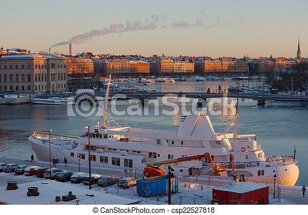 Stockholm winter - csp22527818