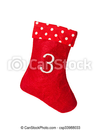 Stocking Advent Symbol Red Christmas Sock For Gifts Red Stock