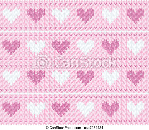 Stocking background with hearts - csp7284434