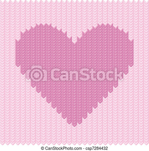 Stocking background with hearts - csp7284432