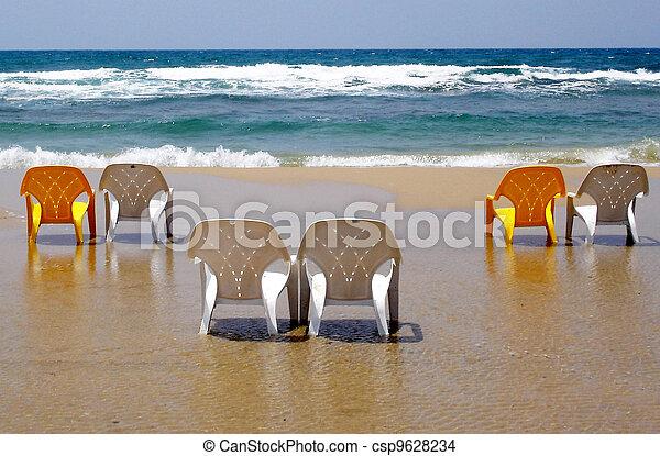 stoelen, strand - csp9628234