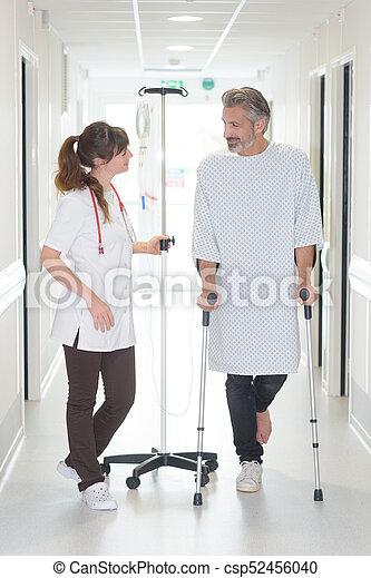 stok, patiënt, arts, het kijken, terwijl, vrouwlijk, gebruik - csp52456040