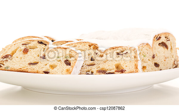Stollen for christmas - csp12087862