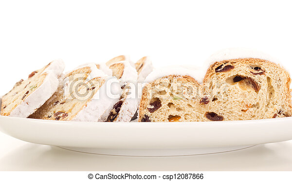 Stollen for christmas - csp12087866