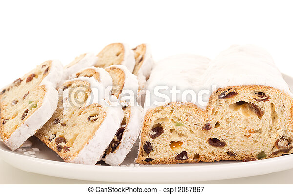 Stollen for christmas - csp12087867