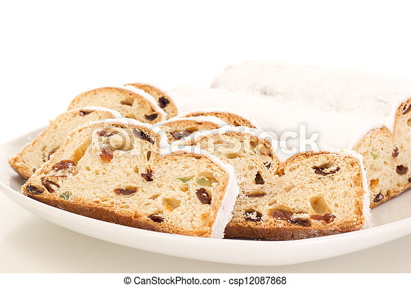 Stollen for christmas - csp12087868