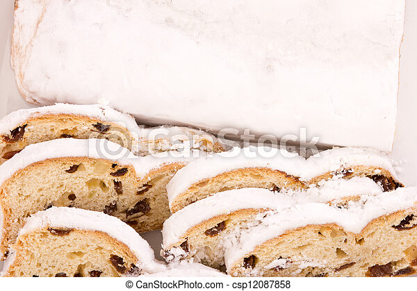 Stollen for christmas - csp12087858