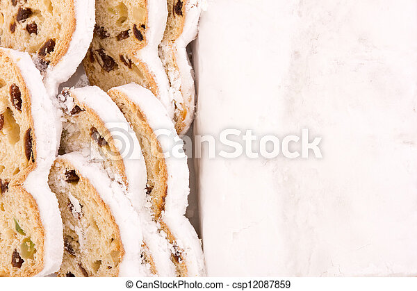 Stollen for christmas - csp12087859
