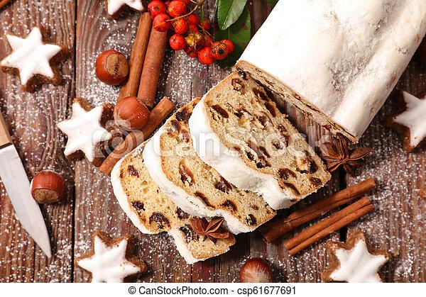 stollen fruit for christmas - csp61677691