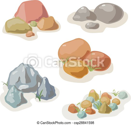 Stone and rock collection vector set - csp28841598