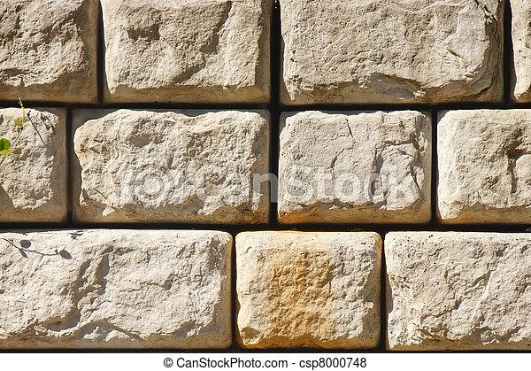 Stone Block Retaining Wall - csp8000748