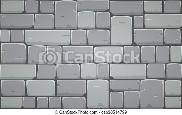 closeup of stone block wall vector illustration eps vectors rh canstockphoto com old stone wall clipart Stone Wall Drawing