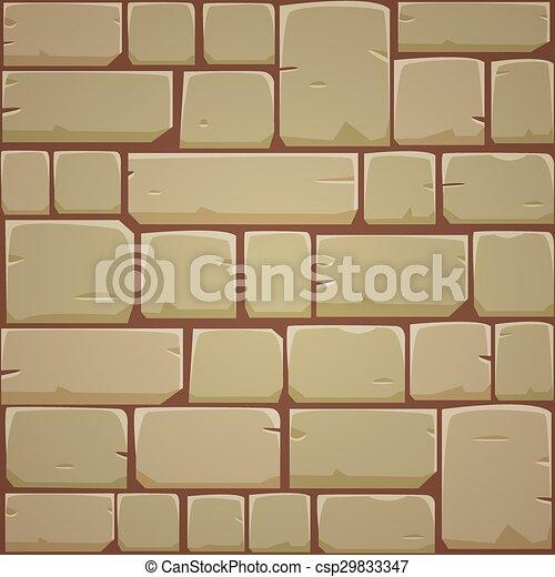 Stone block wall - yellow. Closeup of stone block wall.... eps ...