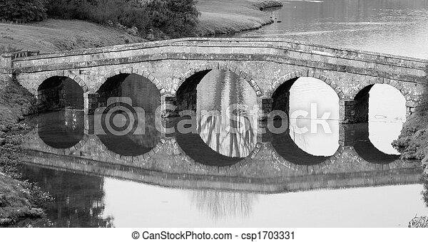 Stone Bridge 2 black and white - csp1703331