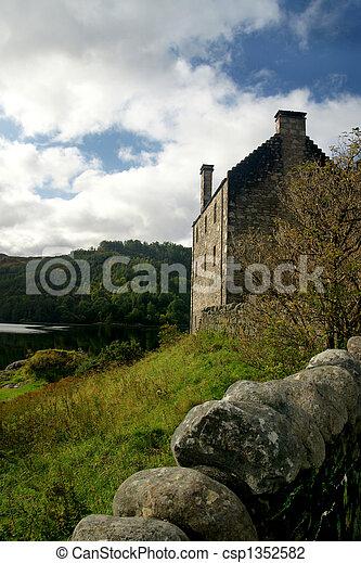 Stone Castle Architecture - csp1352582