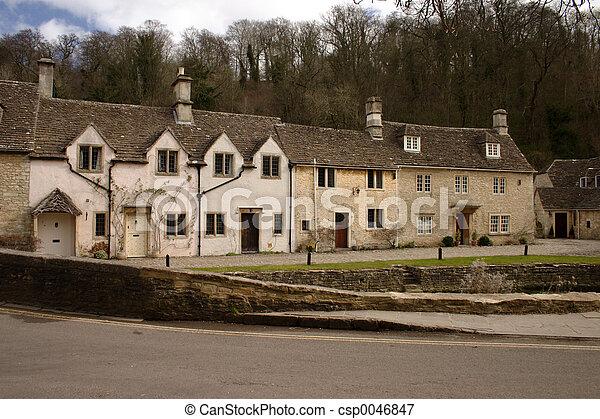 Stone cottages - csp0046847